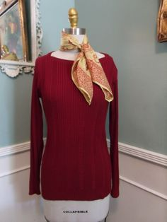 Vintage 60's Givenchy Top. Womans Vintage designer Sweater. I.Magnin Size M - pinned by pin4etsy.com
