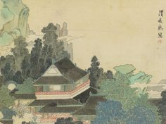 Pavilion in Enchanted Mountains, Ren Xiong