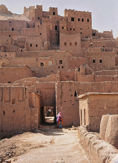 Kabash (mud & clay) houses, Morocco. Morocco is the most westerly of the North African countries. It has Atlantic and Mediterranean coastlines, and a rugged mountain interior.