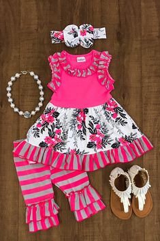 Have+your+princess+the+star+of+the+show+in+this+stunning+Floral+Ruffle+Capri+Set!+Adorable+trendy+floral+fabric+with+ruffles!++Give+your+princess+a+high+end+designer+look+for+wholesale+price!+Super+comfy+yet+still+stylish!+Perfect+for+everyday+wear!+These+are+great+quality+and+true+boutique+style...