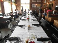 Image result for hanging large photos at rehearsal dinner