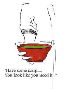 illustration by Sanne Boswinkel for soup's on! www.sannekookt.nl