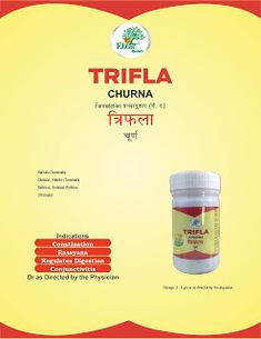 Indications Constipation Rasayana Regulates Digestion Conjunctivitis Or as Directed by the Physician Ayurvedic Medicine, Herbalism, Wisdom, Herbal Medicine