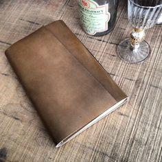 Hand made leather sketchbook...kumm design