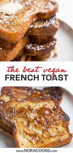 French Toast EASY Vegan French Toast, made with everyday ingredients. You won't miss the eggs, my secret ingredient works perfectly!EASY Vegan French Toast, made with everyday ingredients. You won't miss the eggs, my secret ingredient works perfectly! Vegan Foods, Vegan Dishes, Vegan Vegetarian, Vegan Recipes Simple, Yummy Vegan Recipes, Easy Recipes, Vegan Egg, Vegan Meals, Potato Recipes