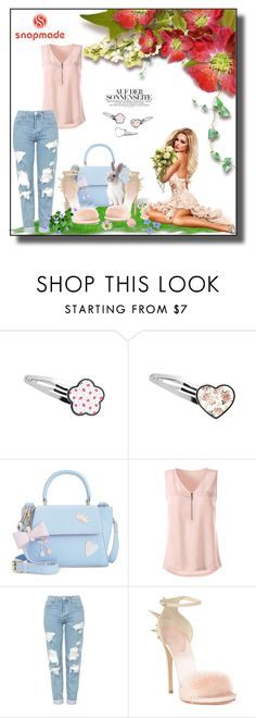 """""""Snapmade 2"""" by erina-salkic ❤ liked on Polyvore featuring In Awe of You, Topshop, Giuseppe Zanotti, summercontest, summercocktail and summercocktailcontest"""