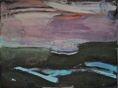 Różowy pejzaż, Paulina Kowalczyk, olej, 30 x 40 cm, Galeria Sztuki Prime Art