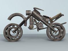 Moto realizada en 3D Max