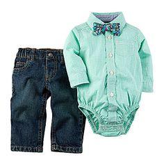 jcp | Carter's® 3-pc. Long-Sleeve Bodysuit Set - Baby Boys newborn-24m