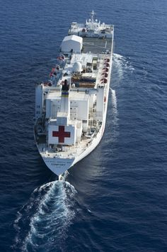 The Military Sealift Command hospital ship USNS Comfort is en route to Kingston, Jamaica, for a Continuing Promise 2011 port visit. Continuing Promise is a five-month humanitarian assistance mission to nine countries in the Caribbean and Central and South America. (U.S. Air Force photo by Staff Sgt. Courtney Richardson)