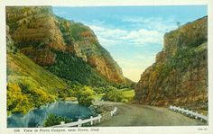 Provo Canyon postcard