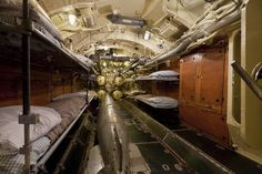 U-Boats ~ The forward torpedo room on the captured German U505 submarine on display at the museum, Oct 15, 2008. In 1954, the vessel was put on display at Chicago's Museum of Science and Industry.~ Getty Images ~ BFD
