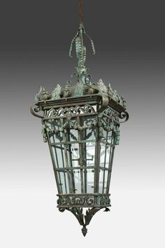OnlineGalleries.com - Early 19th Century Bronze Lantern