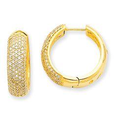 14k AA Diamond Hinged Hoop Earrings XE1467AA