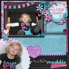 My Little Sweetie, digital layout by pawprints