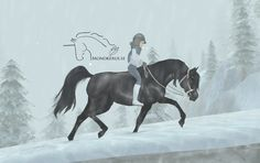 Black Arabian from Star Stable Online - edit © Esme Silverforce