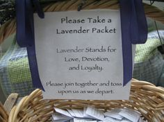 100 Lavender Wedding Toss Envelopes for Good by PrinceSnowFarm, $30.00