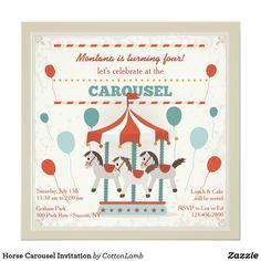 Horse Carousel Invitation