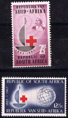 South Africa 1963 Red Cross Centenary Fine Mint                    SG 225 6 Scott 285 6       Condition Fine MNH    Only one post charge applied on