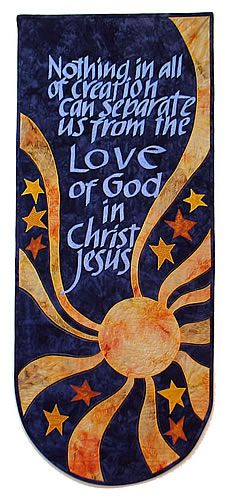 "Church Banner ""Romans 8:38"" (Kit) From Banners on Favorite Bible Verses pg. 80"