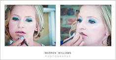 Striking make-up.