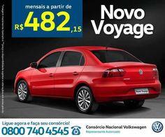 Preço de fábrica, sem juros e sem entrada! É assim que você vai conquistar seu Novo Voyage! Cadastre-se: www.iconsorciovolkswagen.com.br