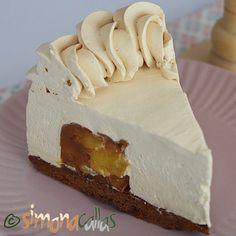 Tort Entremet cu mere si caramel - un desert rafinat - simonacallas Nutella, Pasta, Cheesecakes, Vanilla Cake, Deserts, Ice Cream, Sweets, Candy, Cooking