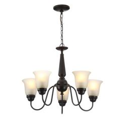 Commercial Electric 5-Light Oil Rubbed Bronze Reversible Chandelier-EFH8195M/ORB - The Home Depot