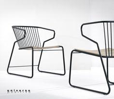 Universo positivo | Gabbia - stunning chair | oak and metal | W62xD69xH76cm | design by Djordje Cukanovic