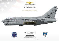 "UNITED STATES NAVY ATTACK SQUADRON FOUR SIX (VA-46) ""Clansmen"" USS JOHN F KENNEDY (CV 67), Carrier Air Wing THREE (CVW 3). 1991Operation DESERT STORM"