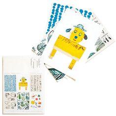 NEW * Mogu Takahashi mini print/postcard set by Fine Little Day  * www.the-pippa-and-ike-show.com