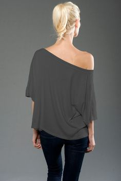 BP - 4SMMJ215 - Back - Slate -- eco-HYBRID™ Micro Jersey Wide Tee. Made in our lush Eco-Hybrid™ Micro Jersey, this wide tee has a flattering drape. Made in USA.• Sizes: S-XL, 3.7 oz., Eco-Hybrid™  Micro Jersey • Garment dyed and washed, preshrunk, heavenly soft, feather-light feel and fantastic drape. • 1x1 rib set-in collar