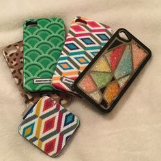 iPhone 4S Cases / Portable Charger 4 Used Cases and a Portable Charger. Two cases and portable charger are both Jonathan Adler, the other two are from Charming Charlie. Jonathan Adler Accessories Phone Cases