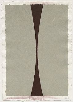 artnet Galleries: Colored Paper Image (Gray Curves with Brown) by Ellsworth Kelly