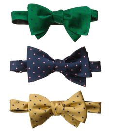 These bowties make for a great boost of color to any suit or tuxedo!