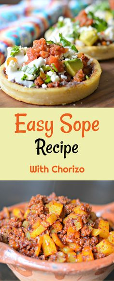 Inside: Keep reading to learn how to make a quick and easy Mexican sope recipe that is perfect for breakfast, lunch, or dinner. Breakfast Recipes Quick and Easy Mexican Sope Recipe with Chorizo and Potato