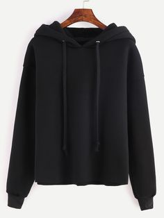 Black Drop Shoulder Hooded Sweatshirt — € ------------------color: Black size: L,M,S,XL Band Outfits, Sporty Outfits, Girl Outfits, Cute Outfits, Trendy Hoodies, Comfy Hoodies, Cropped Hoodie, Sweater Hoodie, Sweatshirts Online
