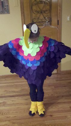Ella's Parrot Costume for a school play