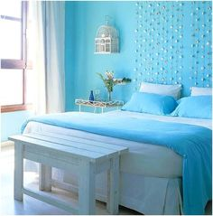 Bedroom Ideas For Teenage Girls Blue decor inspiration for a girl's room #decorating #interiordesign