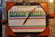 Leather Golf Scorecard holder by BomberoLeatherworks on Etsy, $67.50