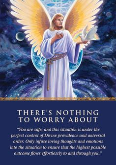 Oracle Card There's Nothing to Worry About | Doreen Virtue | official Angel Therapy Web site
