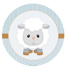 Sheep Baby Shower: 70 Cute Tips & Photos to Inspire! - Sheep Baby Shower: 70 Cute Tips & Photos to Inspire! Baby Lamb, Baby Boy, Imprimibles Baby Shower, Scrapbook Bebe, Candy Bar Labels, Framed Wallpaper, Boy Shower, Shower Gifts, Holidays And Events