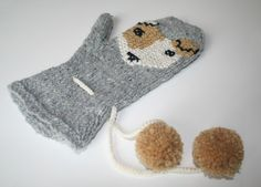 Smiffy Mitten made by my assistant Aimee Hirst for my workshop at John Lewis on the 19th of September. Follow the Link below for more information http://debbieblissonline.com/blog/embellishment-surgery/