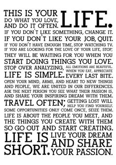 Canvas Art Prints, Wall Canvas, Student Voice, Appreciate Life, This Is Your Life, Living Room Art, Word Porn, Birthday Quotes, Oil Paintings
