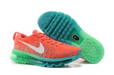 Flyknit Air Max Women Orange Green