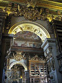 The Biblioteca Joanina at the University of Coimbra in Portugal.