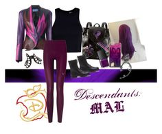 """""""Descendants: Mal"""" by wanderlust1997 ❤ liked on Polyvore featuring Disney, Thierry Mugler, T By Alexander Wang, Lucas Hugh, NARS Cosmetics, Bling Jewelry and Monan"""