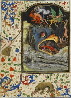 Hours of the Virgin with Latin calendar. Votes of the Saints. Hell. Rating: Martainville 192 fol. 167 v °
