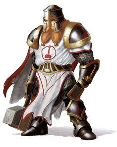 Dwarf male cleric/warrior.