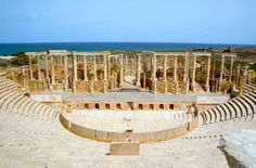 The astonishing theatre at Leptis Magna, in Lybia